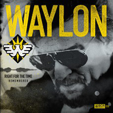 """Waylon Jennings """"Right for the Time (Remembered)"""" Yellow Cassette Tape 1"""
