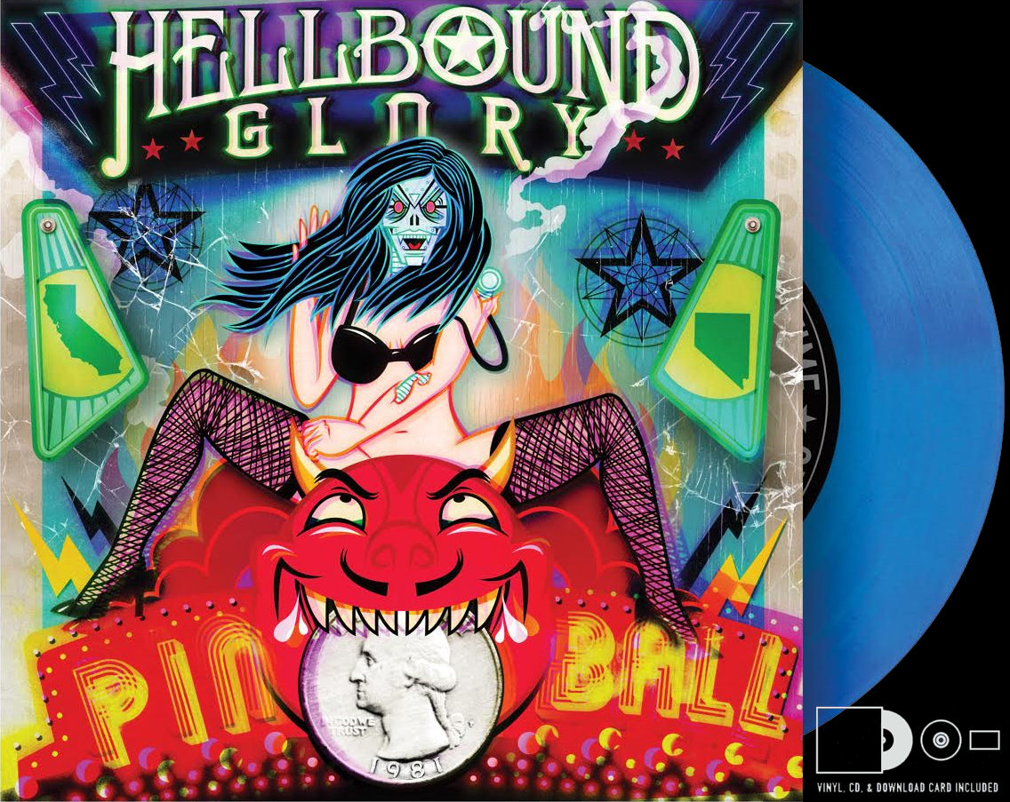"Hellbound Glory ""Pinball"" Blue Vinyl/CD/Download"