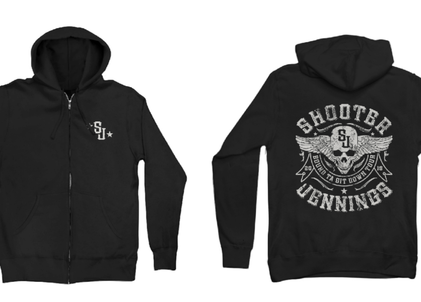 Shooter Jennings Skull Hoodie 1