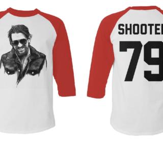 Shooter Jennings Baseball Tee: White 2